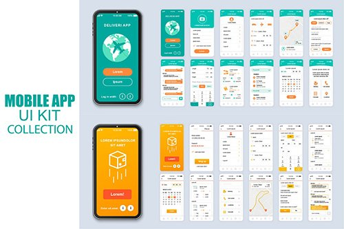 Big Collection Delivery Mobile App Ui Kit Screen