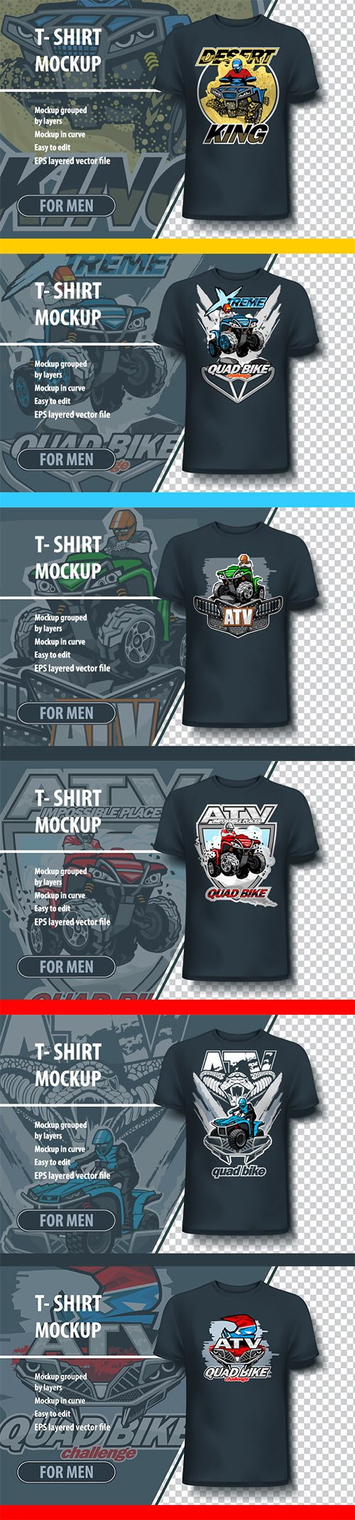 T-shirt mock-up vector template with logo