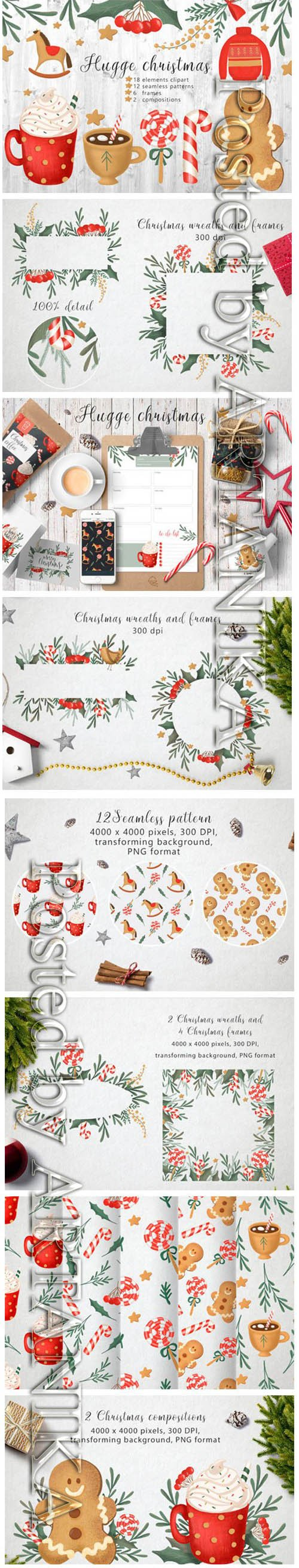Hugge Christmas Illustrations 1996799
