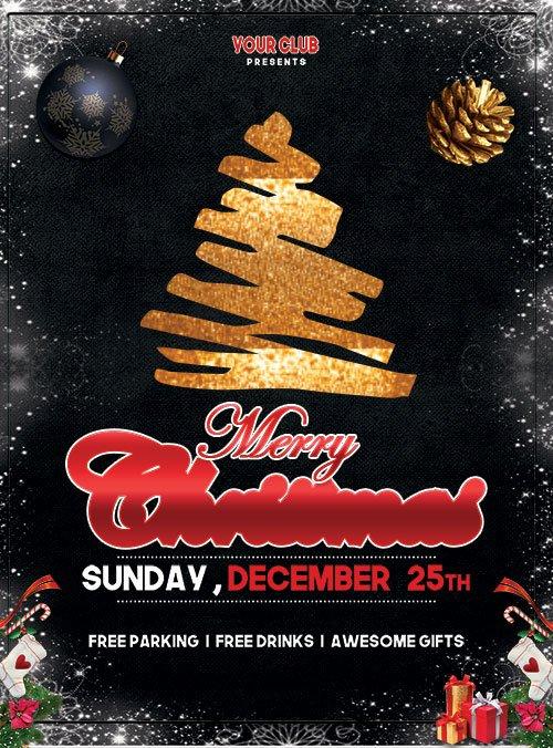 Merry Christmas Event - Premium flyer psd template