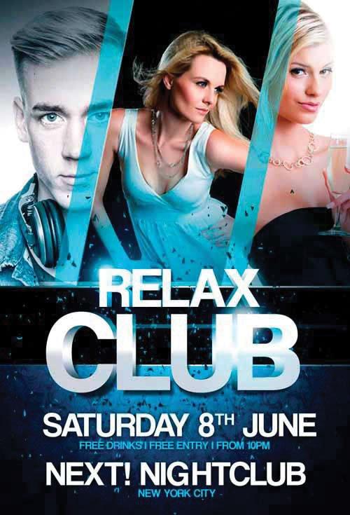 Relax Club - Premium flyer psd template