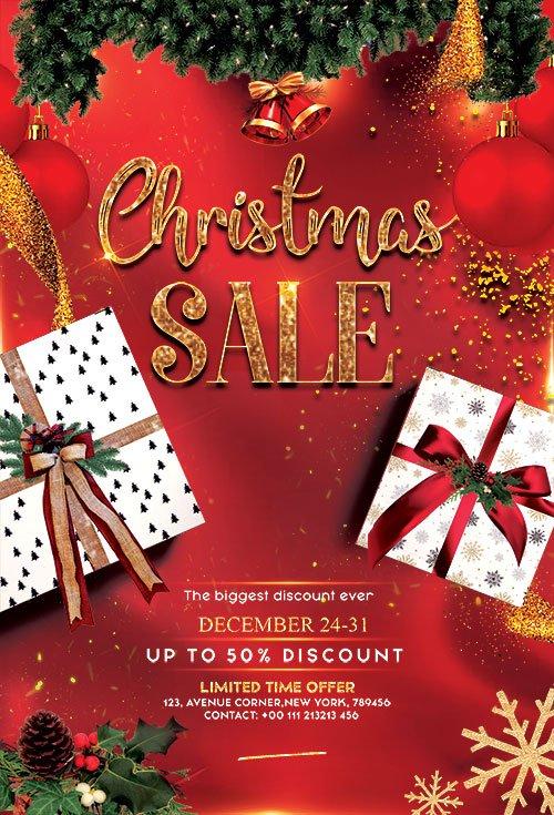 Christmas Sale - Premium flyer psd template