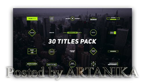 30 Titles Pack 21955729