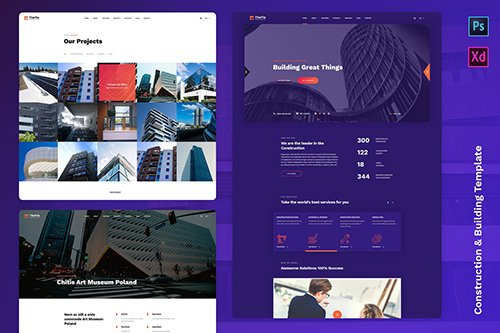 Ouranos - Construction & Building Template