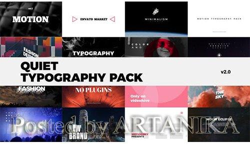 Quiet Typography Pack 24544972