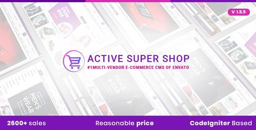 CodeCanyon - Active Super Shop v1.5.5 - Multi-vendor CMS - 12124432 - NULLED