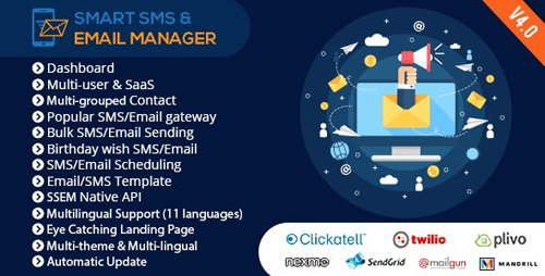 CodeCanyon - Smart SMS & Email Manager (SSEM) v4.0 - 14817919 - NULLED