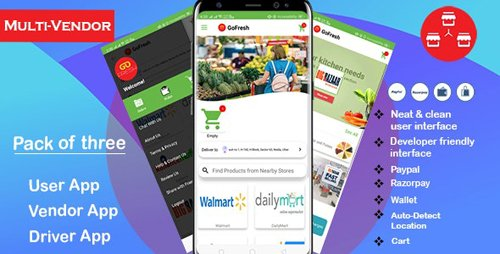 CodeCanyon - Multi Vendor Grocery Android App with Backend v1.0.1 - Bigbasket Grofers Happyfresh Clone - 24122154