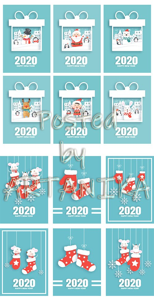 Set of New Year Cards