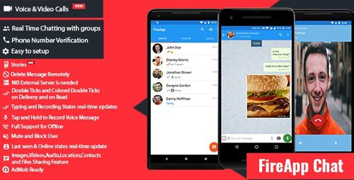 CodeCanyon - FireApp Chat v1.2.5 - Android Chatting App with Groups Inspired by WhatsApp - 22453192