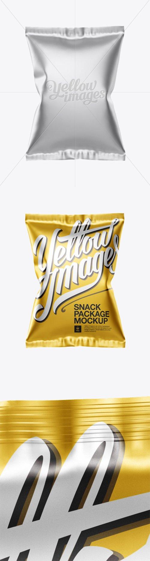 Matte Metallic Snack Package Mockup - Front View 12709 TIF