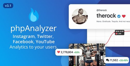 CodeCanyon - phpAnalyzer v3.1.1 - Social Media Analytics Statistics Tool ( Instagram, Twitter, YouTube, Facebook ) - 21933992 - NULLED