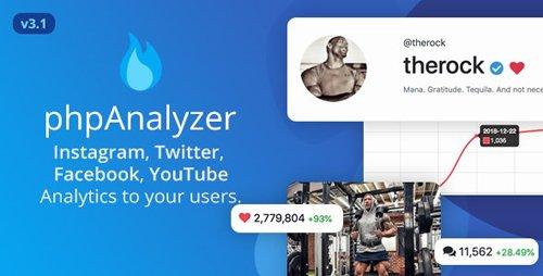 CodeCanyon - phpAnalyzer v3.1.1 - Social Media Analytics Statistics Tool ( Instagram, Twitter, YouTube, Facebook ) - 21933992 - NULLED