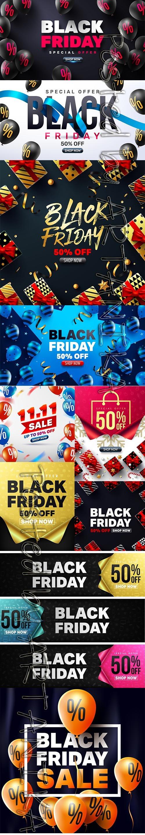 Black Friday Sale Banner Template Set Vol 3