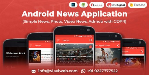 CodeCanyon - Android News Application v1.1 (Simple News, Photo, Video News, Admob with GDPR) - 8348513