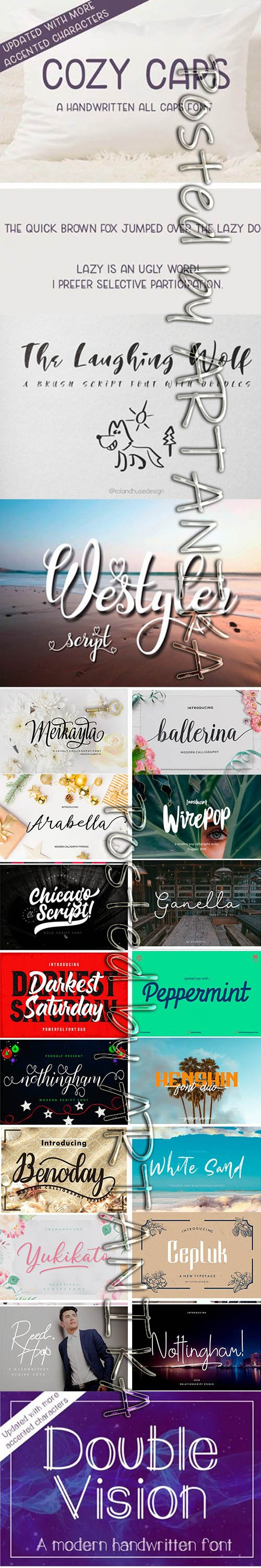 Big Modern Fonts Bundle 2019
