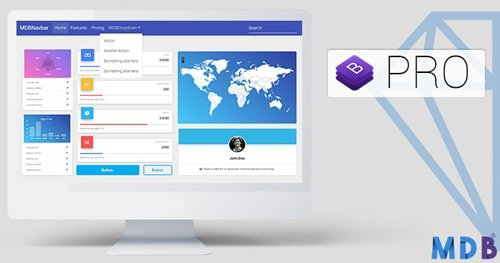 Material Design for Bootstrap 4 Pro v4.8.10