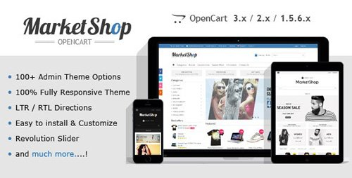 ThemeForest - MarketShop v2.12 - Multi-Purpose OpenCart Theme - 6913803