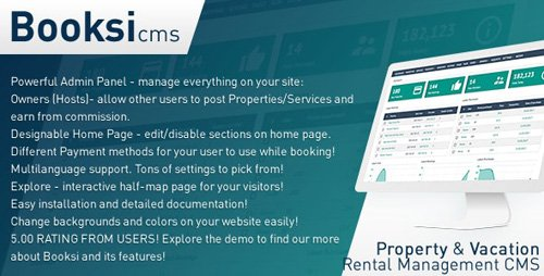 CodeCanyon - Booksi v1.3 - Property & Vacation Rental Management CMS - 19994312 - NULLED