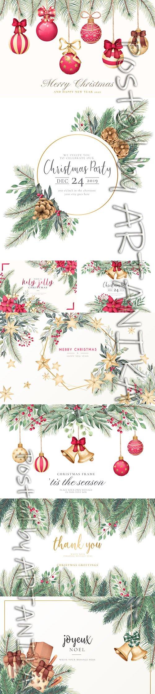 Elegant and Lovely Christmas Backgrounds Set Vol 3