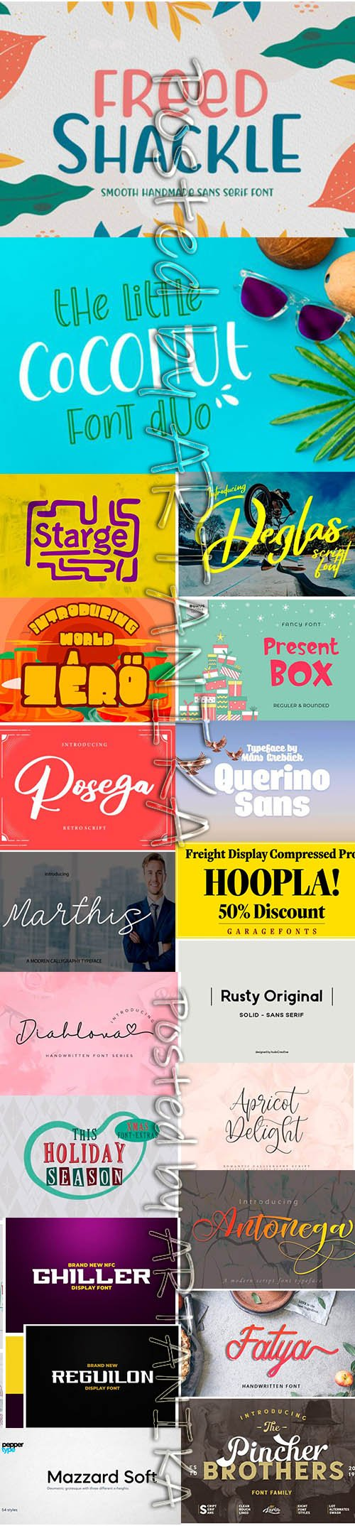 19 Different Fonts Bundle 2019