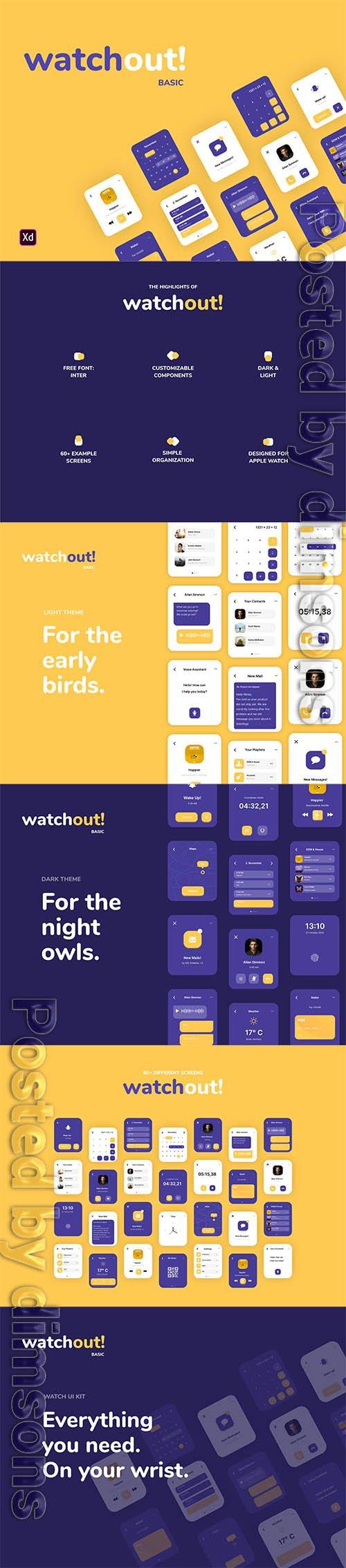 watchout! Basic | Watch UI Kit