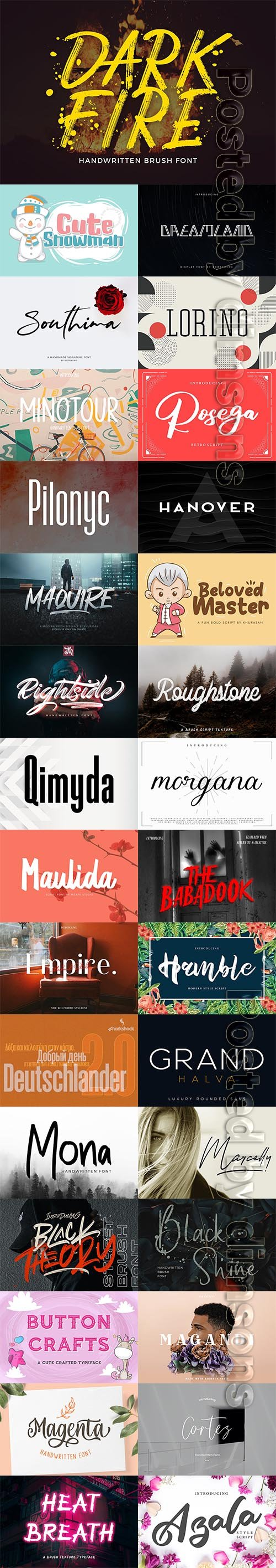 31 Fresh Font Bundle 2019 Vol 7