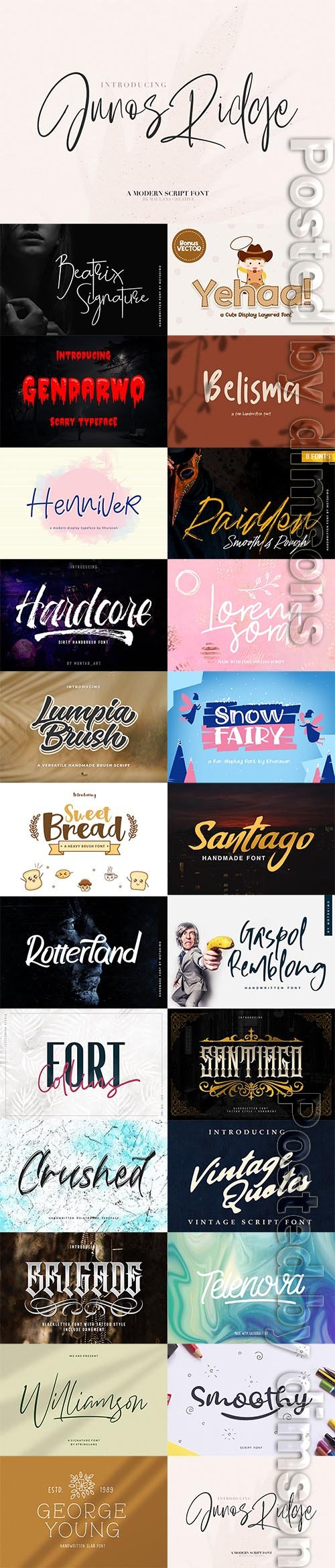 24 Fresh Font Bundle 2019 Vol 8