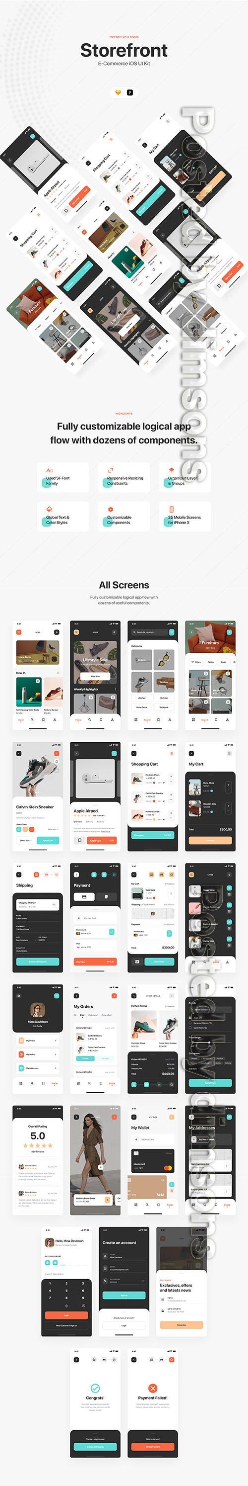 Storefront iOS UI Kit - UI8