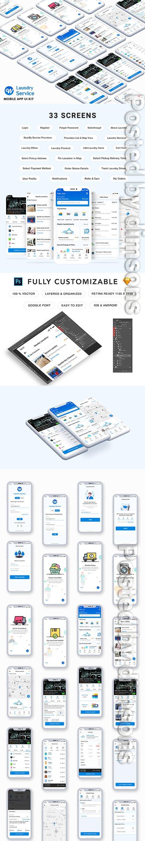 Wash It : Laundry App UI Kit - UI8