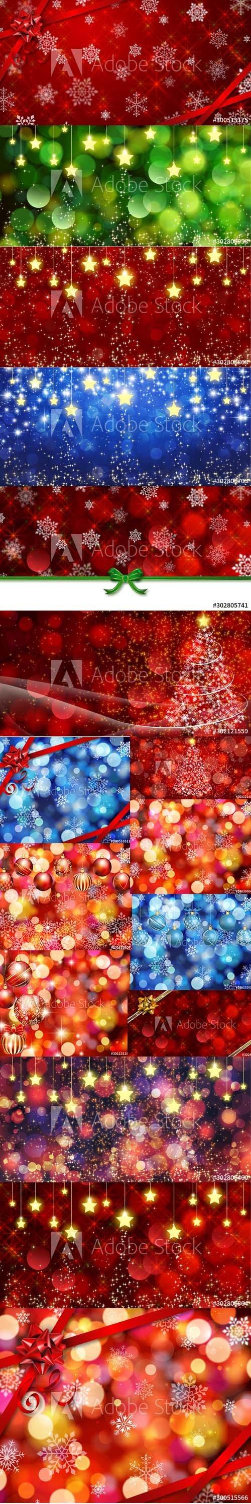 Magic Christmas Backgrounds Set Vol 3