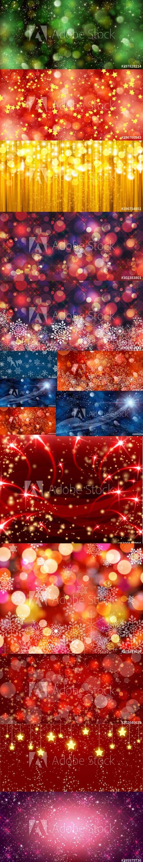 Magic Christmas Backgrounds Set