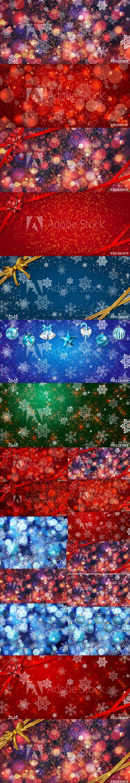 Magic Christmas Backgrounds Set Vol 2
