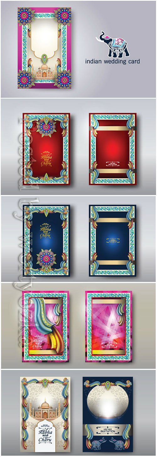 Vector illustration of Indian card