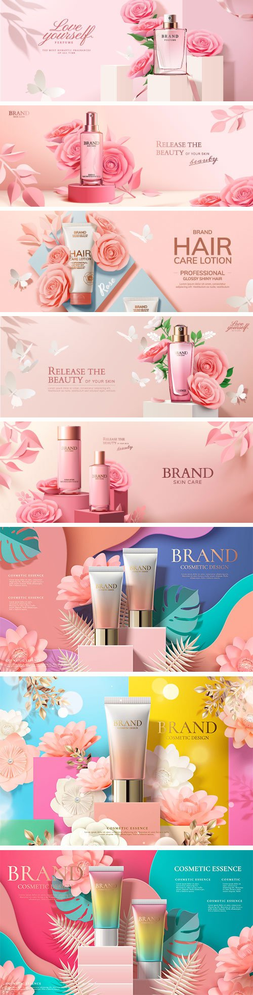 Brand cosmetic design, foundation banner ads # 7