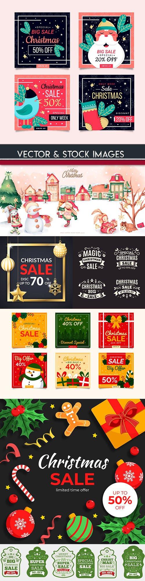 Merry Christmas sale 2020 decorative design