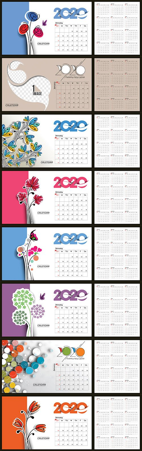 Happy new year 2020 Calendar # 5