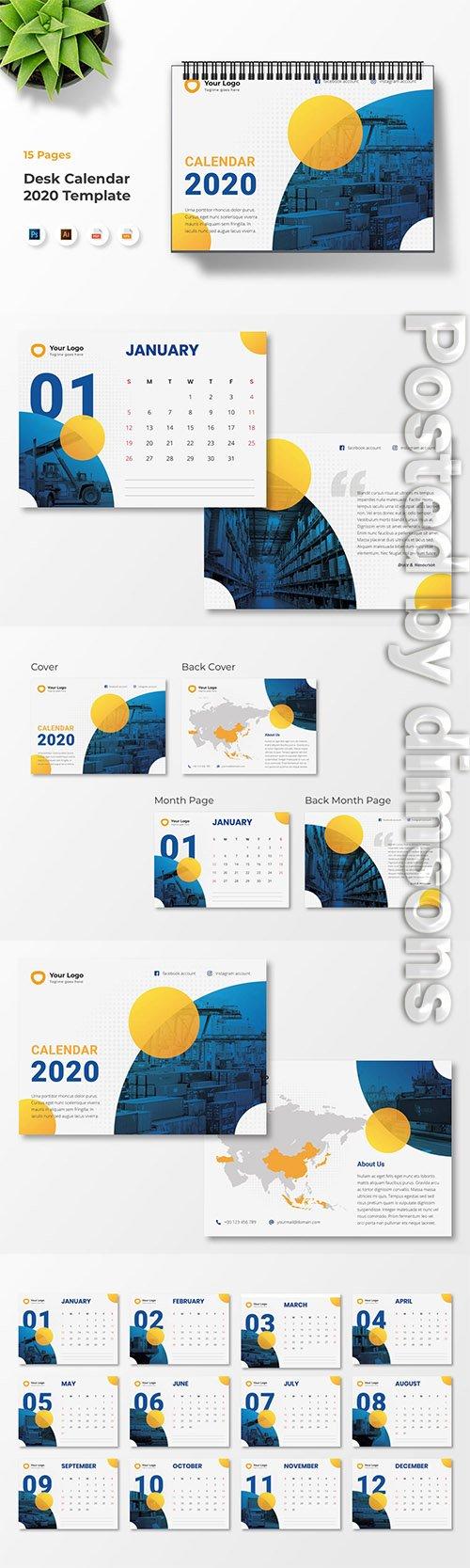 Calendar 2020 PSD