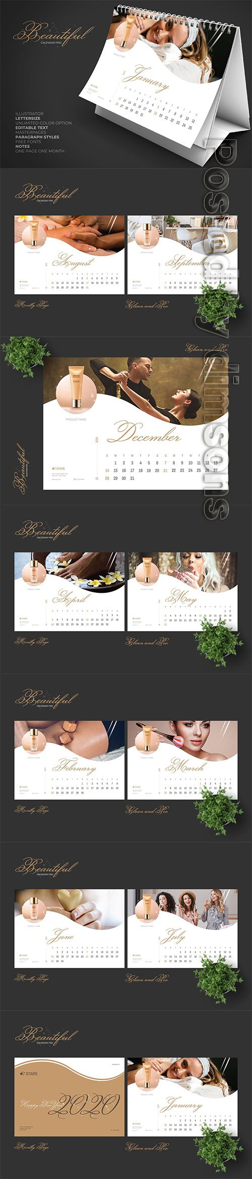 2020 Beauty Creative Calendar Pro