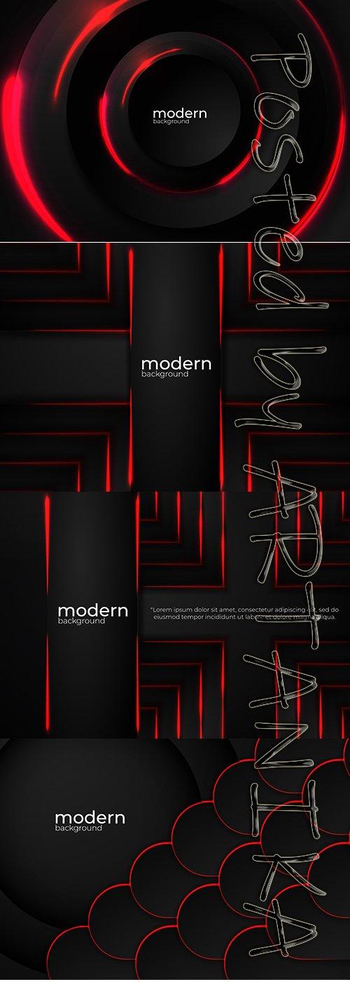 Modern Black Vector Background pack