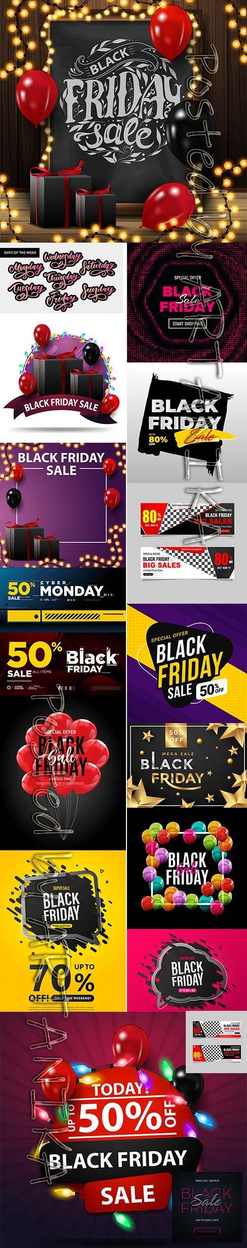 Black Friday Sale Backgrounds Vol 2