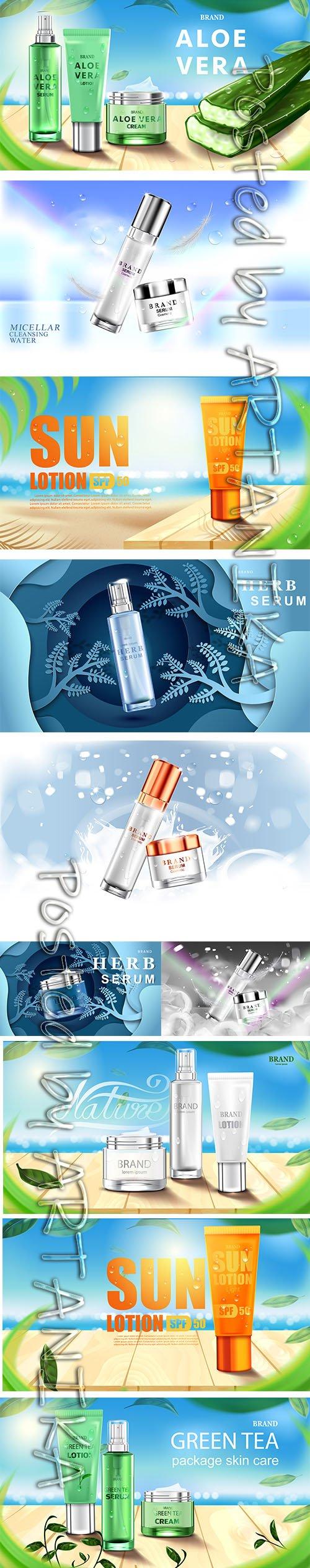 Luxury Beauty Cosmetic Bottle Package Set