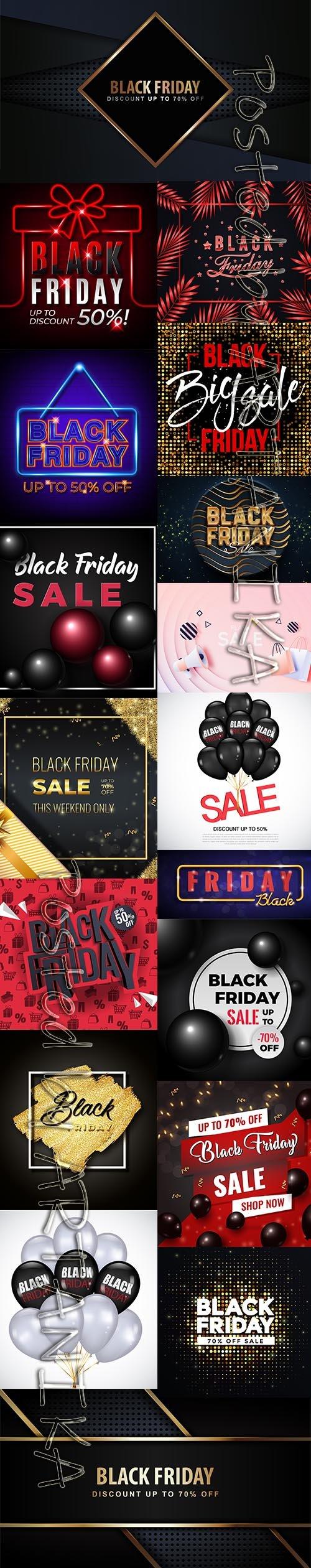 Black Friday Sale Backgrounds Vol 3