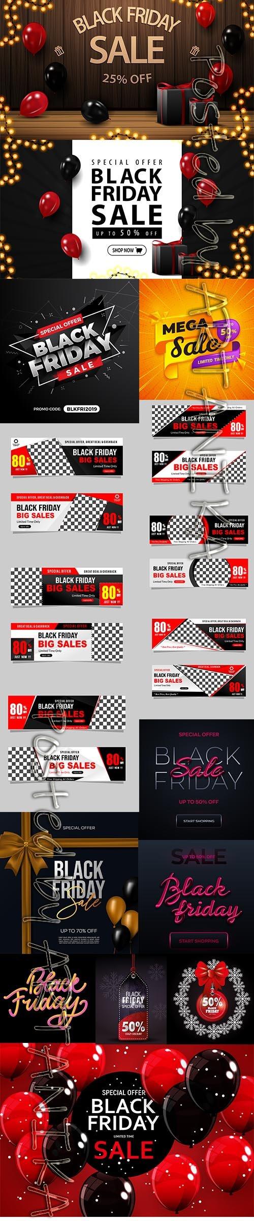 Black Friday Sale Backgrounds Vol 4