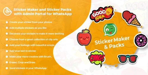CodeCanyon - WhatsApp Sticker Maker with Admin Portal v1.1 - WAStickerApps Android - 23355792