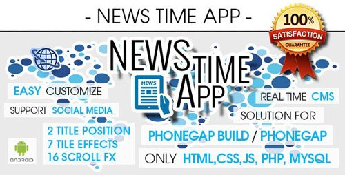 CodeCanyon - News Time App With CMS - Android  [ AdMob & Push Notifications ] (Update: 17 November 17) - 9588718