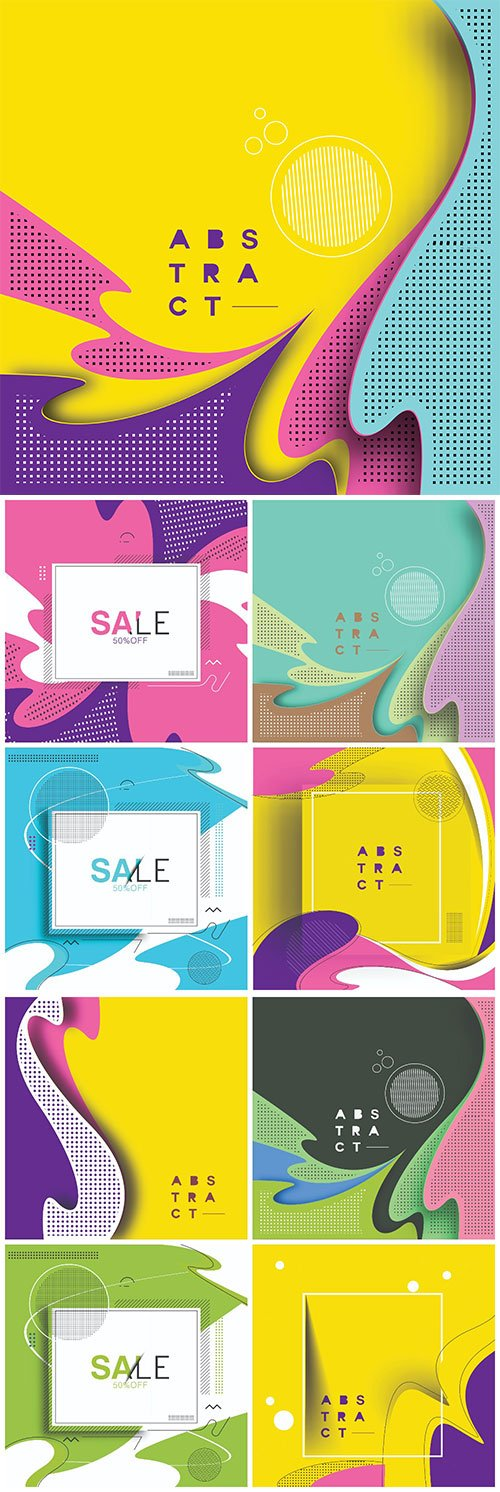 Abstract colorful pattern design and background