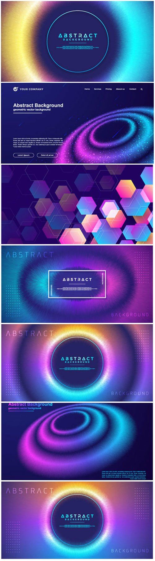 Abstract, dynamic, modern circle background