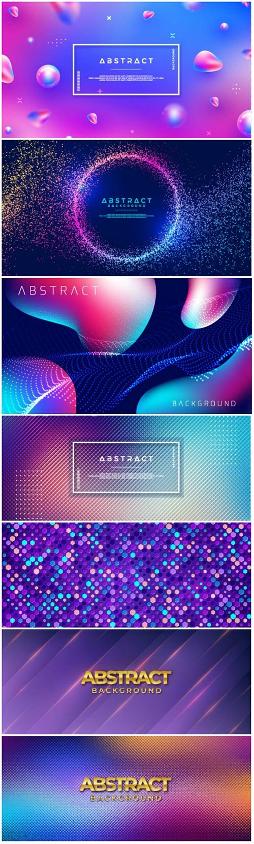 Colorful background with 3D style