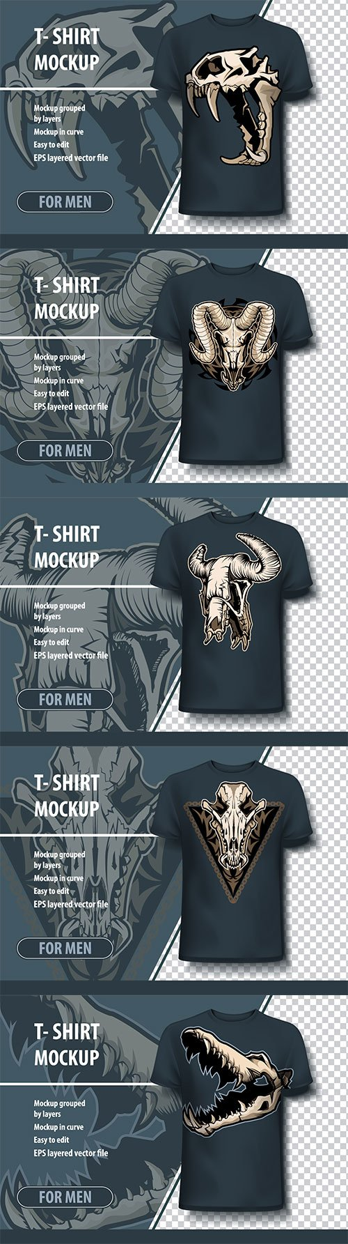 Mock-up template for printing on T-shirts